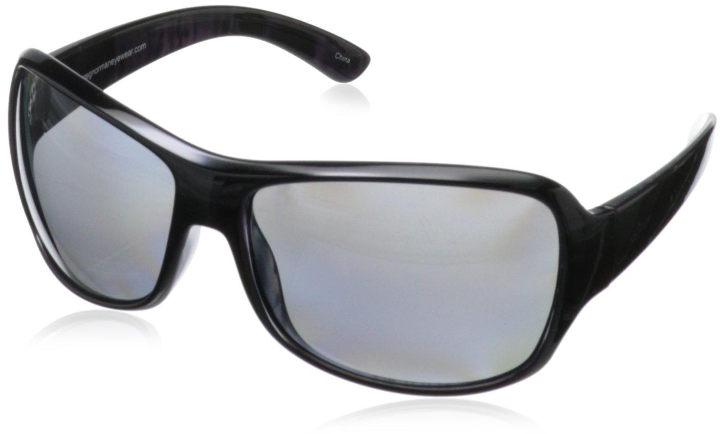 Greg Norman G4216 Polarized Sport Oversize Soft Square Glare Control Polarized Sunglasses,Shiny Black & Purple, 63 mm