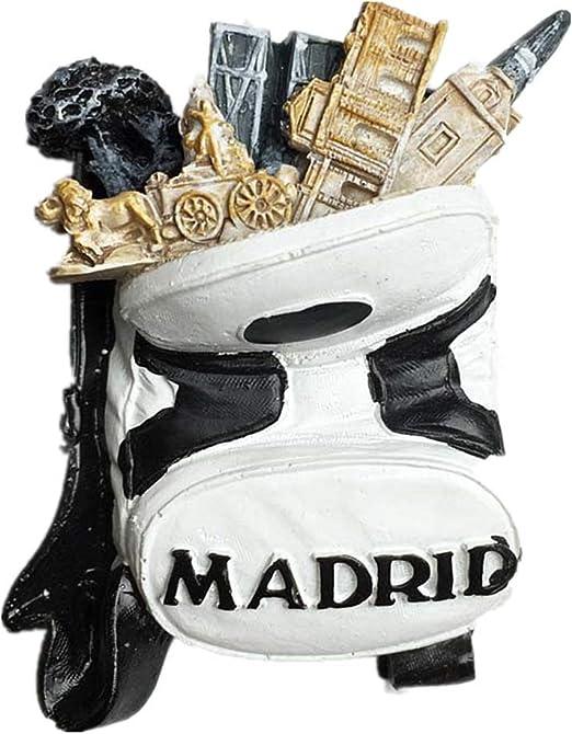 Imán de nevera de recuerdo de Jian Ai 3D Madrid España, decoración para el hogar y la cocina Madrid España imán para refrigerador: Amazon.es: Hogar