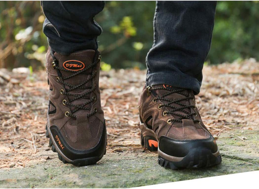 zxcvb Mens Walking Sneakers Travel Casual Waterproof Lightweight Running Outdoor Athletic Hiking Brown Shoes