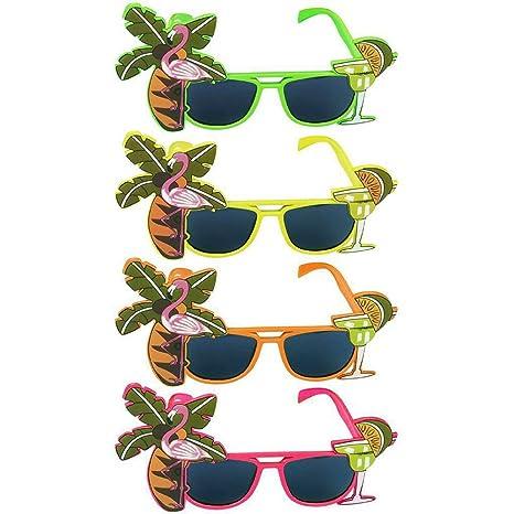 Tinksky 4 luau fiesta oferta gafas de sol Hawaii temática ...
