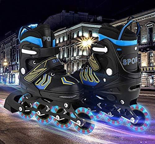 Details about  /Adjustable Inline Skates Roller Blades with Flashing Wheels Unisex  Kids Teens //
