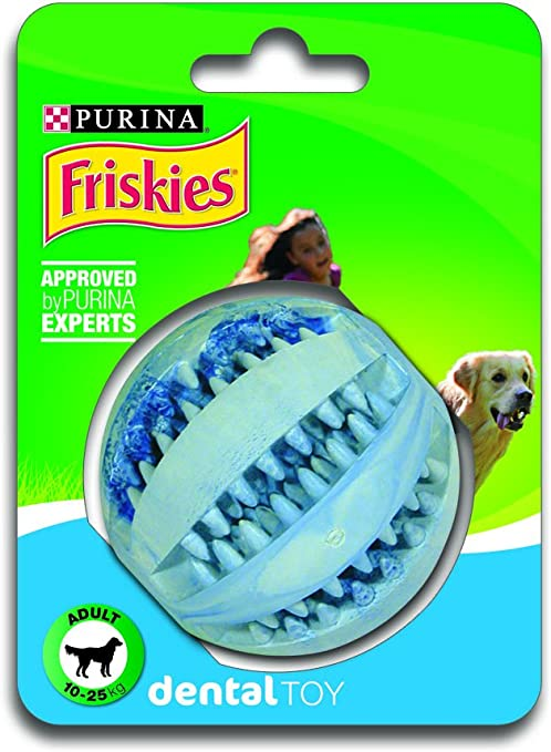 Purina Friskies 12126367 Juguete Pelota Dental para Perro Mediano ...