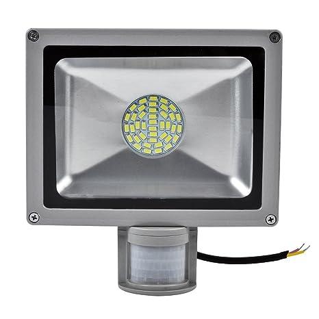 Leetop Interior y Exterior 30W LED Focos Blanco Frio con Sensor de Movimiento,con Fijación