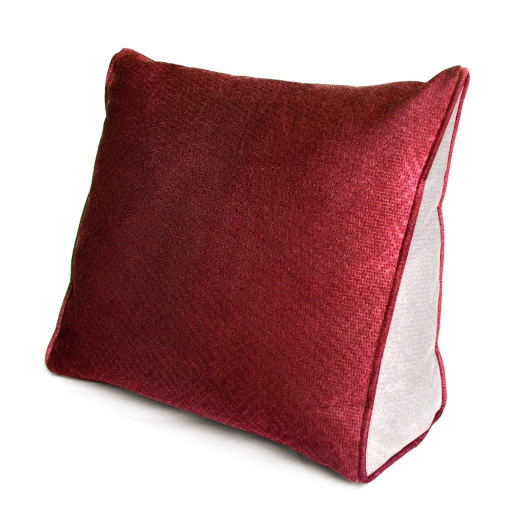WXH Cushions Büro-Kissen-Dreieck-lumbales Kissen prägeartiges Kissen Kissen Kissen 45cm  40cm  15cm A+ B07GLPVZTS Kopfkissenbezüge 130504