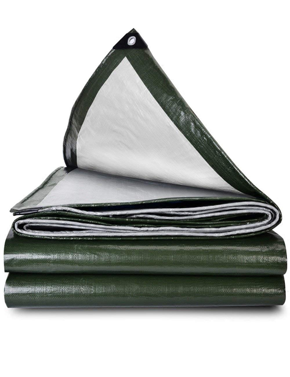 DLyng ダークグリーン防水タープテントキャンピングキャンバスタパリンヘビーデューティシェードタフ (Size : 5m*6m) 5m*6m  B07GYRS25K
