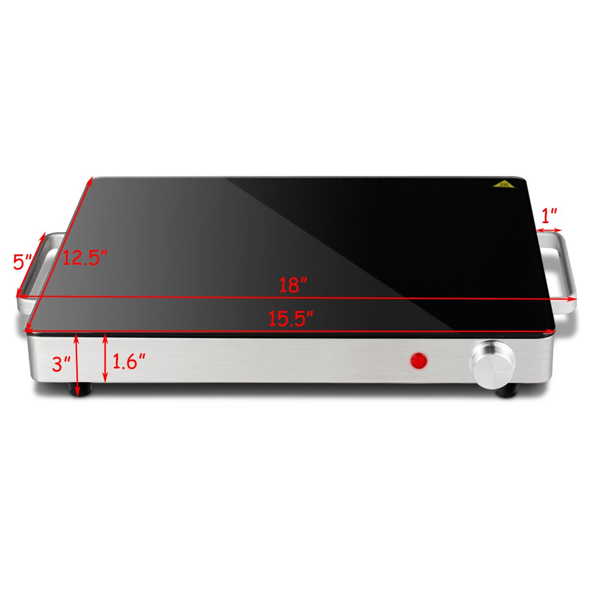 Giantex Warming Tray with Adjustable Temperature Control Perfect For Buffets, Restaurants and Home Dinners by Giantex (Image #7)