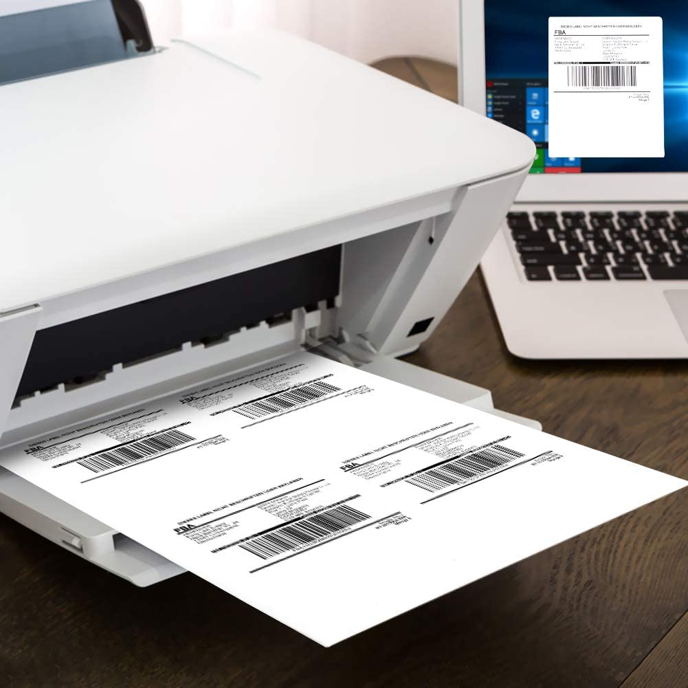 MFLABEL 4 up Per Page Self Adhesive Shipping Labels Address Labels for Laser & Inkjet Printers, 25 Sheets / 100 Labels : Office Products