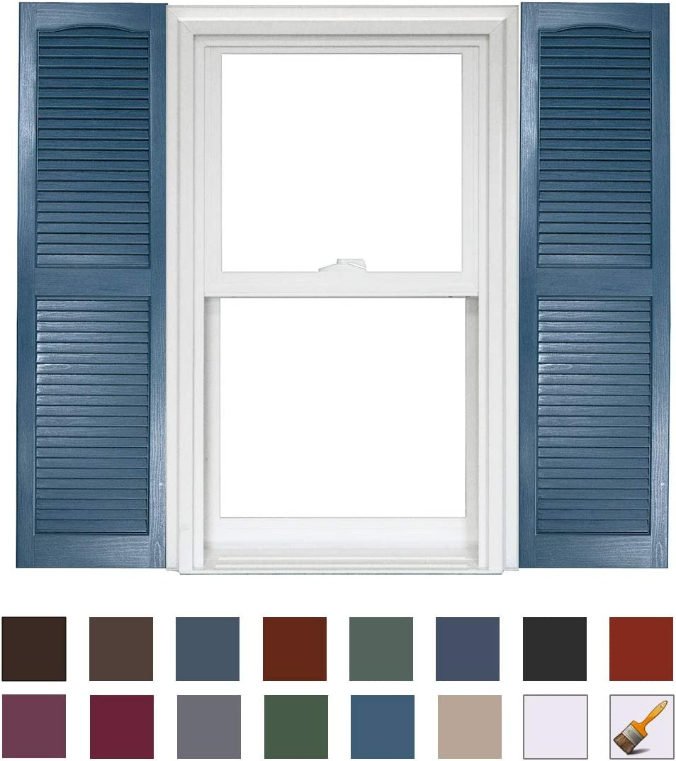 Homeside Open Louver Shutter 1 Pair 14-1//2in 035 Brown x 63in