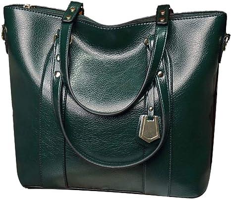 Women Handbag Bag PU Leather Casual Tote Female Large Shoulder Messenger Bags ✅