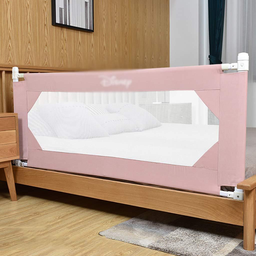 ベッドレールベビーシャッター抵抗フェンス垂直エレベーター180-200cmベッドバッフル子供のユニバーサルアンチフォールレニング (色 : Pink, サイズ さいず : 180cm) 180cm Pink B07GWX4CPH