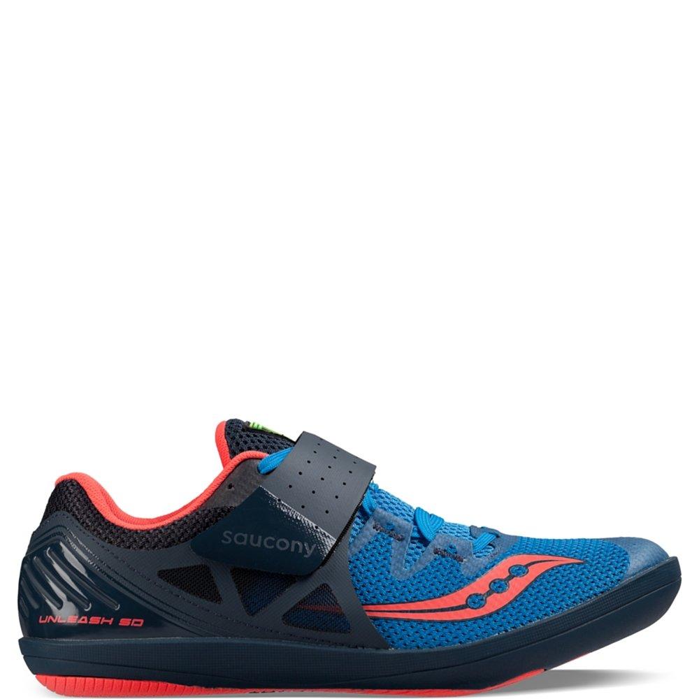 Saucony Men's Unleash sd2 Track Shoe, Blue/Red, 9.5 M US by Saucony