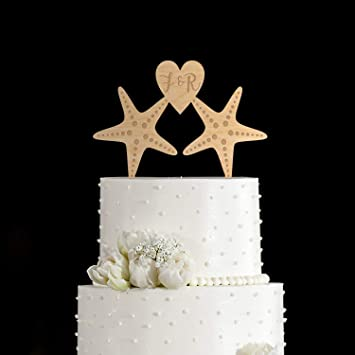 Starfish Wedding Cake Topper Seashell Wedding Cake Topper
