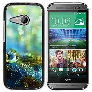 Paccase / SLIM PC / Aliminium Casa Carcasa Funda Case Cover - Water Drop Macro - HTC ONE MINI 2 / M8 MINI