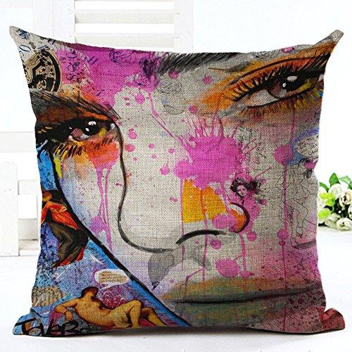 Excellent-shop Cushion Covers Decorative Pillowcases Cartoon Urban Fashion...