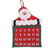 Velluto Natale Calendario Dell'avvento Decorazione Kit Arazzo Conteggio Vacanza