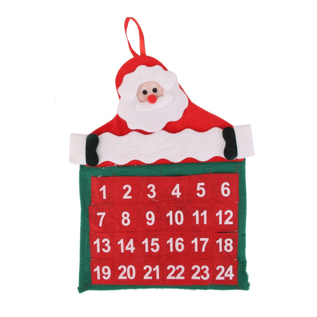 Countdown to Christmas Calendar Wall Hanging Decoration 30 x 43cm