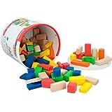 ColorBaby Cubo 100 bloques de madera (40993)
