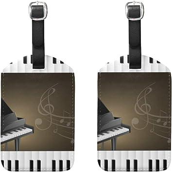 2 Piezas Grand Piano con teclados, Notas Musicales, Etiquetas ...
