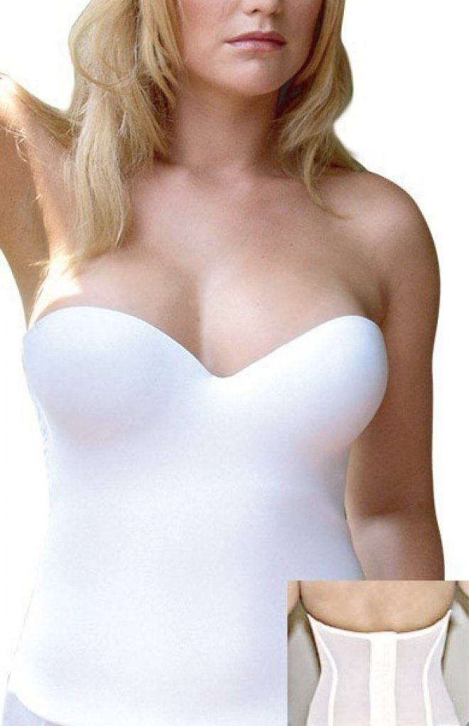 Valmont Longline Seamless Strapless Bra with Molded Cups Style 7642 - White - 40C by Valmont Longline Seamless Strapless Bra with Molded Cups Style 7642 - White - 40C (Image #3)