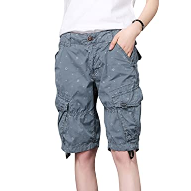 777dc5c3ba YouPuer Women Combat Cargo Shorts Casual Multi Pocket Beach Work Casual  Short Trouser Lightweight Running Shorts Pants: Amazon.co.uk: Clothing