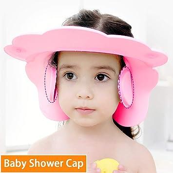 319462aa08a Maveek Baby Bathroom Safety Visor Caps Child Shower Cap,Adjustable Sticker