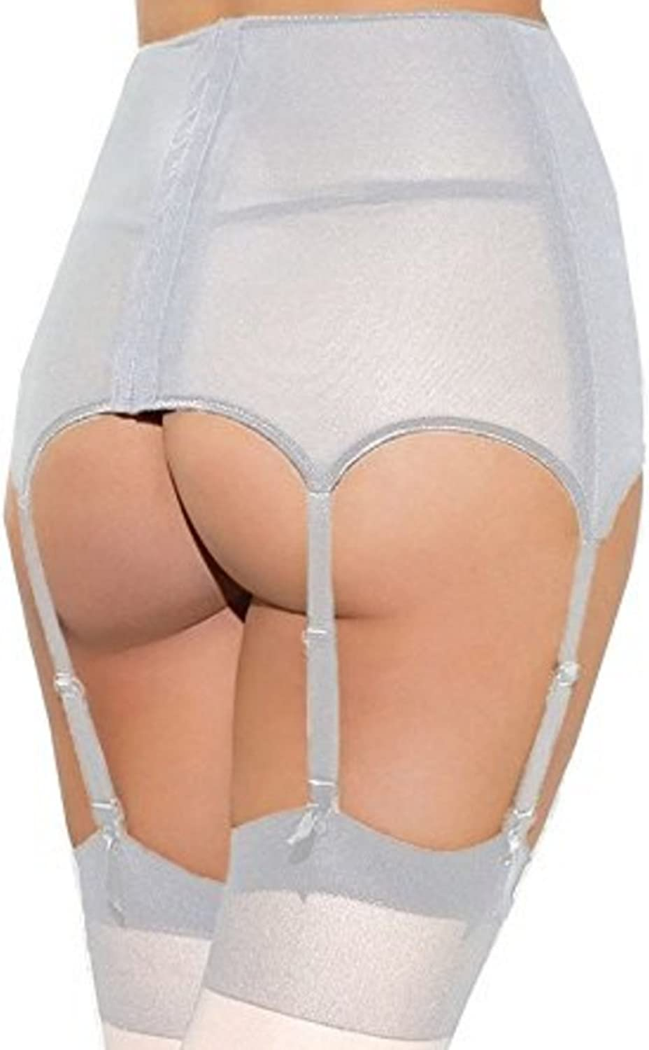 Lannorn Womens Plus Size Lace High-waisted Hollow Out Adjustable Suspender Garter Belt With Matching Thong