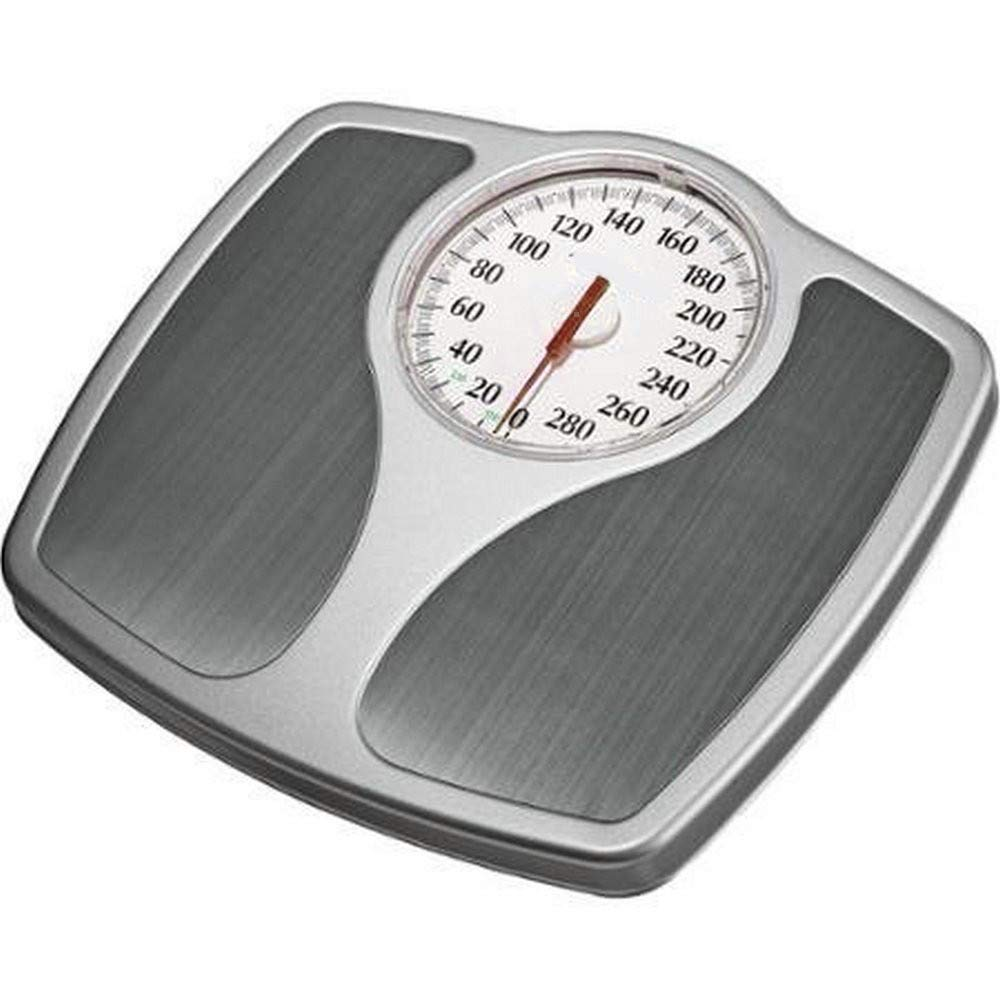 AMGS Analog Bathroom Scale 400lb Oversized Body Weight Monitor Accurate Non Digital Mechanical Dial Scales Home Office Durable Steel Easy to Clean & e-Book by Amglobalsupplies