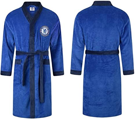 Official Chelsea Football Club Fleece Dressing Gown Robe Size Medium Large X- Large