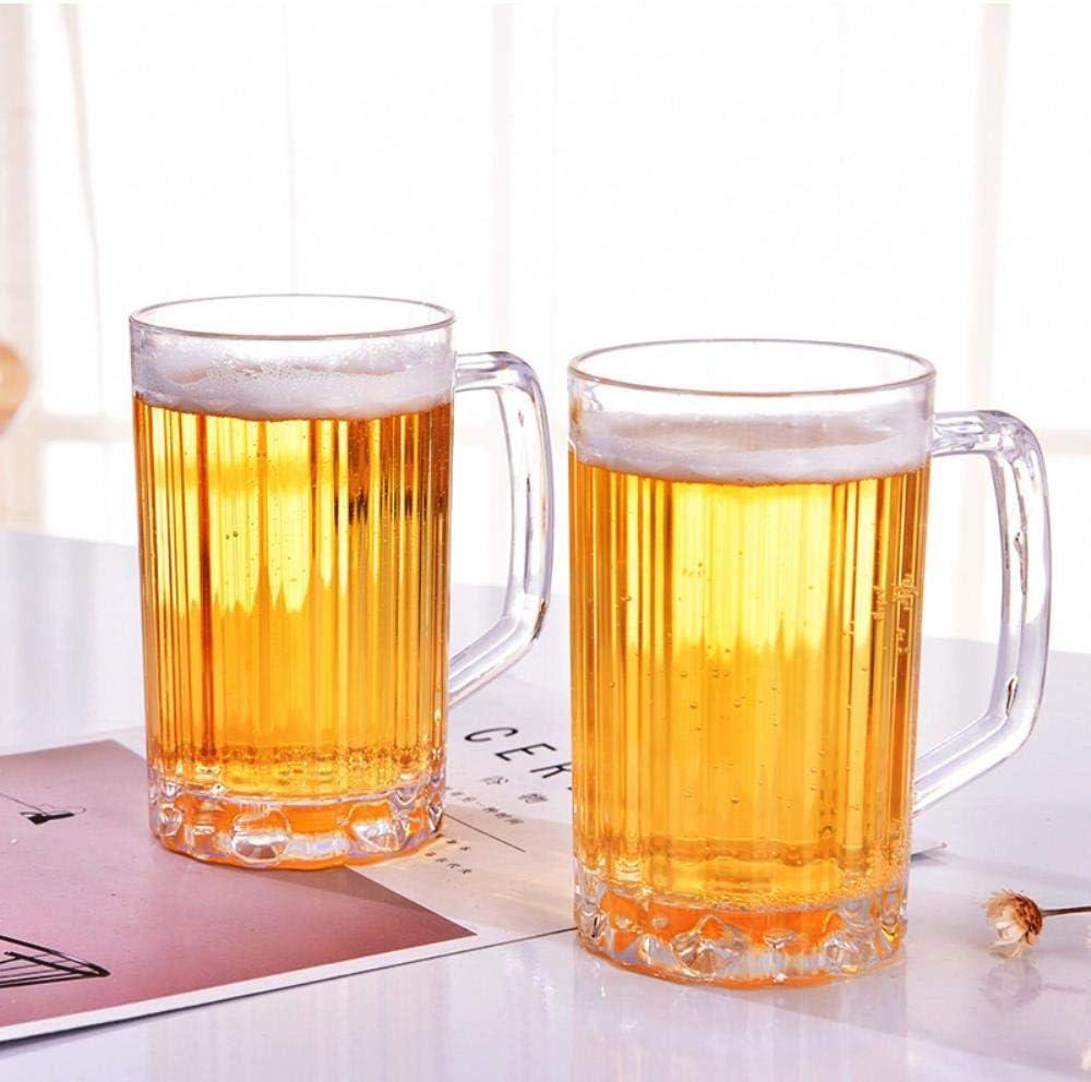 XMWW 2pcs Vaso de Cerveza de acrílico irrompible Vaso de CervezaGrande Vasos de Bebidas de piña de plástico Desayuno Leche Café Taza de Agua Bar Drinkware, 500 ml