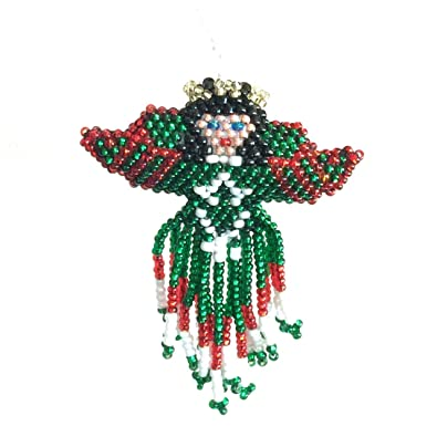Beaded Christmas Ornaments.Amazon Com Mayan Arts Christmas Ornaments Beaded