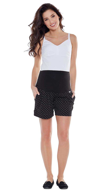 Be  Mama Umstandshose, Shorts für Schwangere, hochwertige Baumwolle, Baumwolle, Baumwolle, Modell  Sawyer (Marco) B07PRM1XQC Hosen Echt 047a8b
