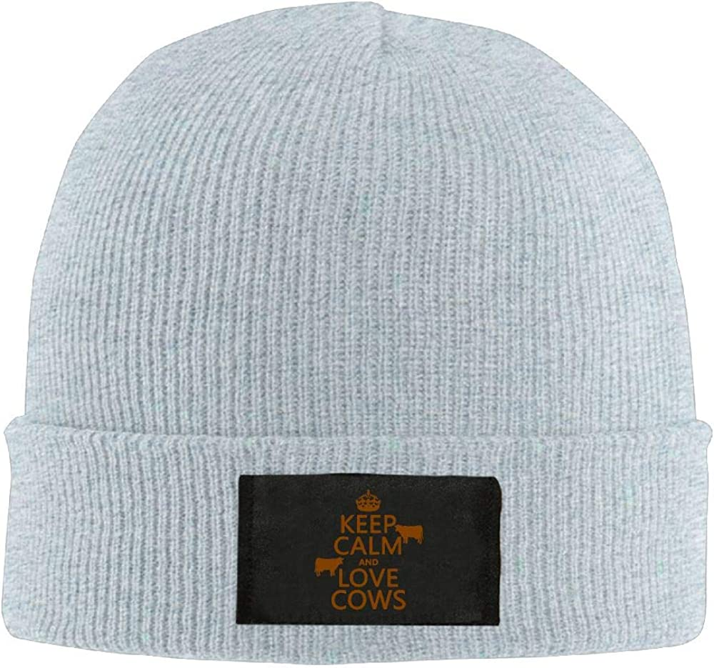 Adult Unisex Keep Calm and Love Cows Casual Beanies