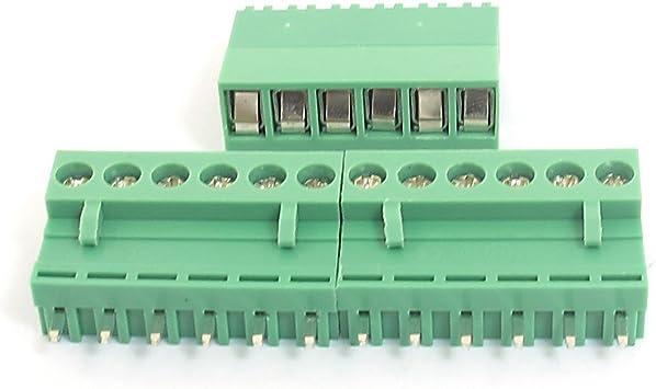Aexit 300 V 25A 3 vie 9,5 millimetri Vite distanziatore morsetto blocco barriera filo connettore w 12 pezzi ID 866221
