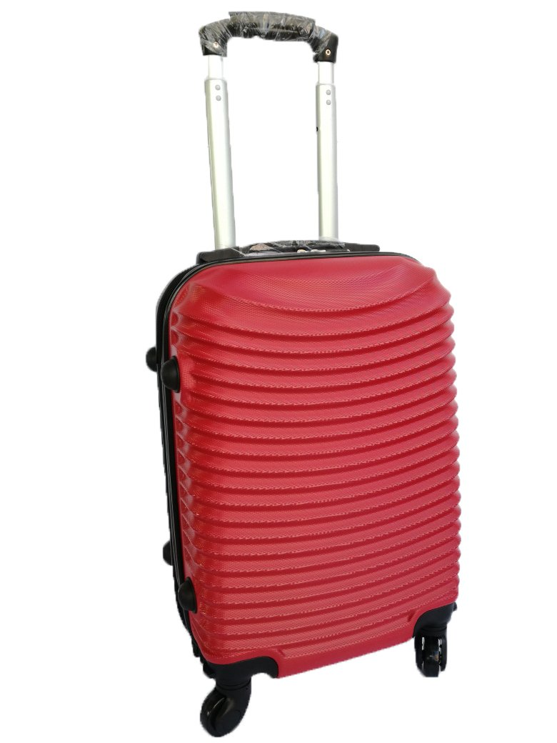TROLLEY CABINE RUBAN POIGNÉ E ALKA TRAVEL 'CABINE TAILLE BAS COÛ T RYANAIR EASYJET CABINE TAILLE TAILLE VALISE RIGIDE TUYAU MESURES 50X35X20 (ARGENT)