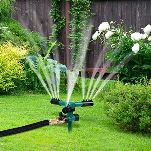 Junio1 Rociador de Enchufe de Tierra Giratorio automático para jardín doméstico Conjuntos de riego: Amazon.es: Jardín