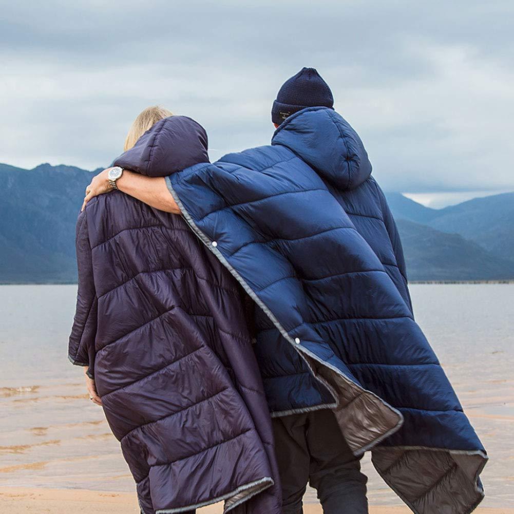 Sola Capa Caliente Al Aire Libre para Viajes de Playa Tentock Poncho de Invierno Multifuncional para Adulto