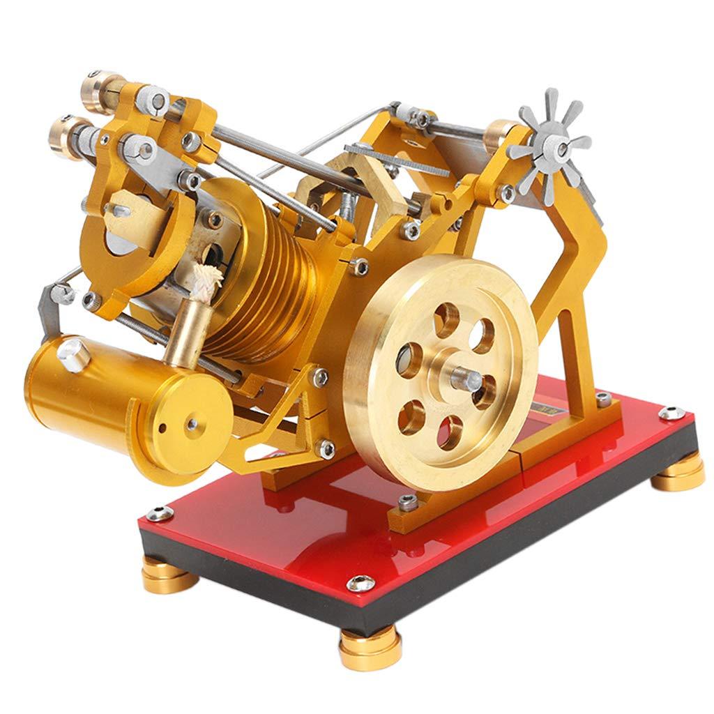 F Fityle V1-45 Flammenlecker Einzylinder Stirlingmotor Heißluftmotor für Labor Schule und Haus