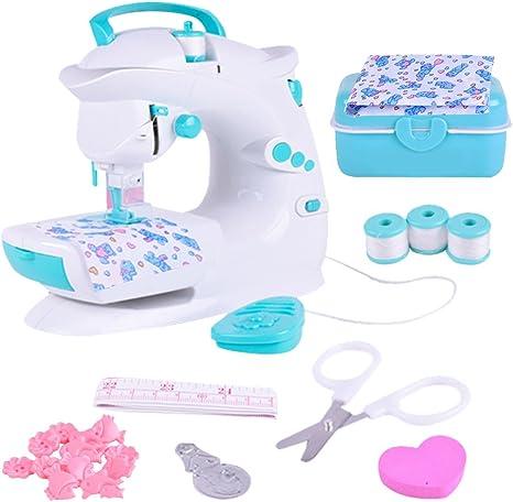 Multifunción presupuesto Máquina de coser eléctrica Mini Kleine portátil miniatura Niños juguete de coser sin Bord Talla:B: Amazon.es: Bebé