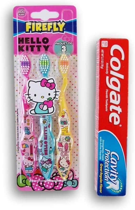 Firefly Hello Kitty - Juego de Cepillo de Dientes y Pasta de Dientes: Amazon.es: Juguetes y juegos
