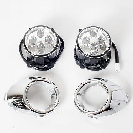 L.E.D LED Daytime Running Light DRL Daylight Kit Day Driving Fog Lamp For Ford Fiesta/