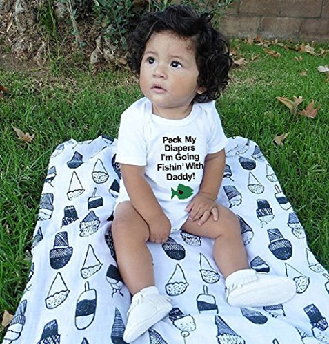 SWNONE Baby Boys Girls Clothing Shirts Rompers Jumpsuit Short Sleeves Funny Letter Printed White Onesie (White, 0-3 Months) …