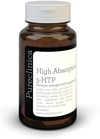 5HTP 300mg x 90 Tablets - 3 Months Supply. with 220mg Vitamin C, B6, and Black Pepper Extract. SKU: 5H3