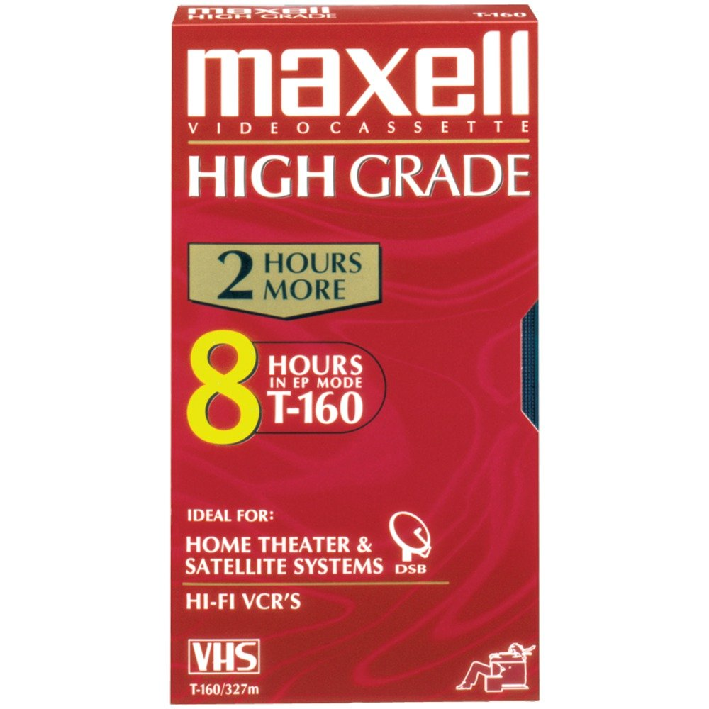Maxell 224510 T-160HG High Grade VHS Video Cassette