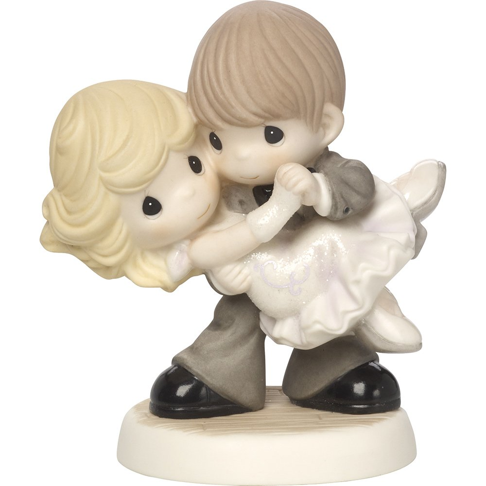 Precious Moments Dancing With My Star Couple Dancing Bisque Porcelain Figurine 171035