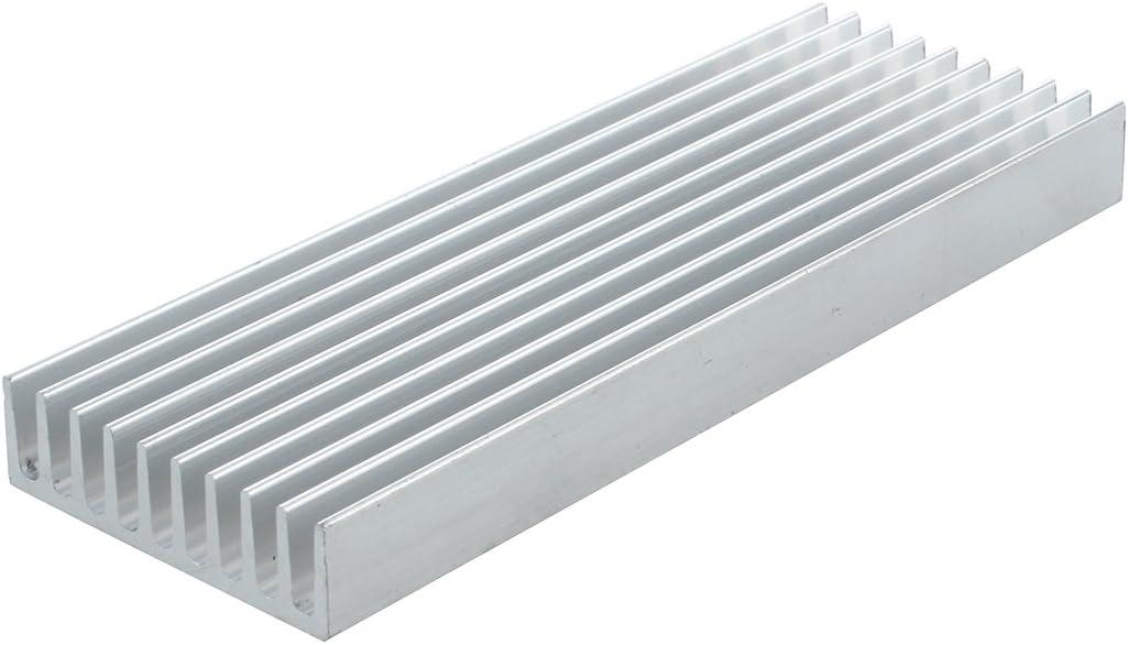 WOVELOT 100mm /× 35mm x 10mm K/ühlk/örper Aluminium IC MOSFET SCR Komponenten Silber