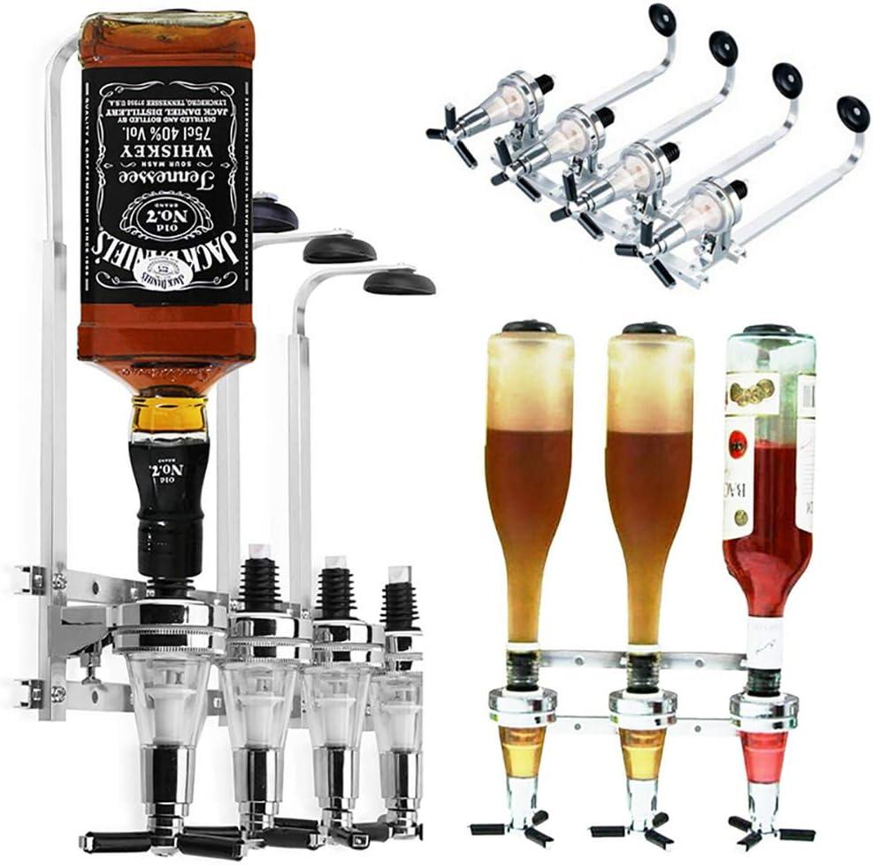 3 Bottle Stand Optic Dispenser Drinks Wine Spirits Steel Bar Butler Drinks Wine Dispenser Wall Mounted