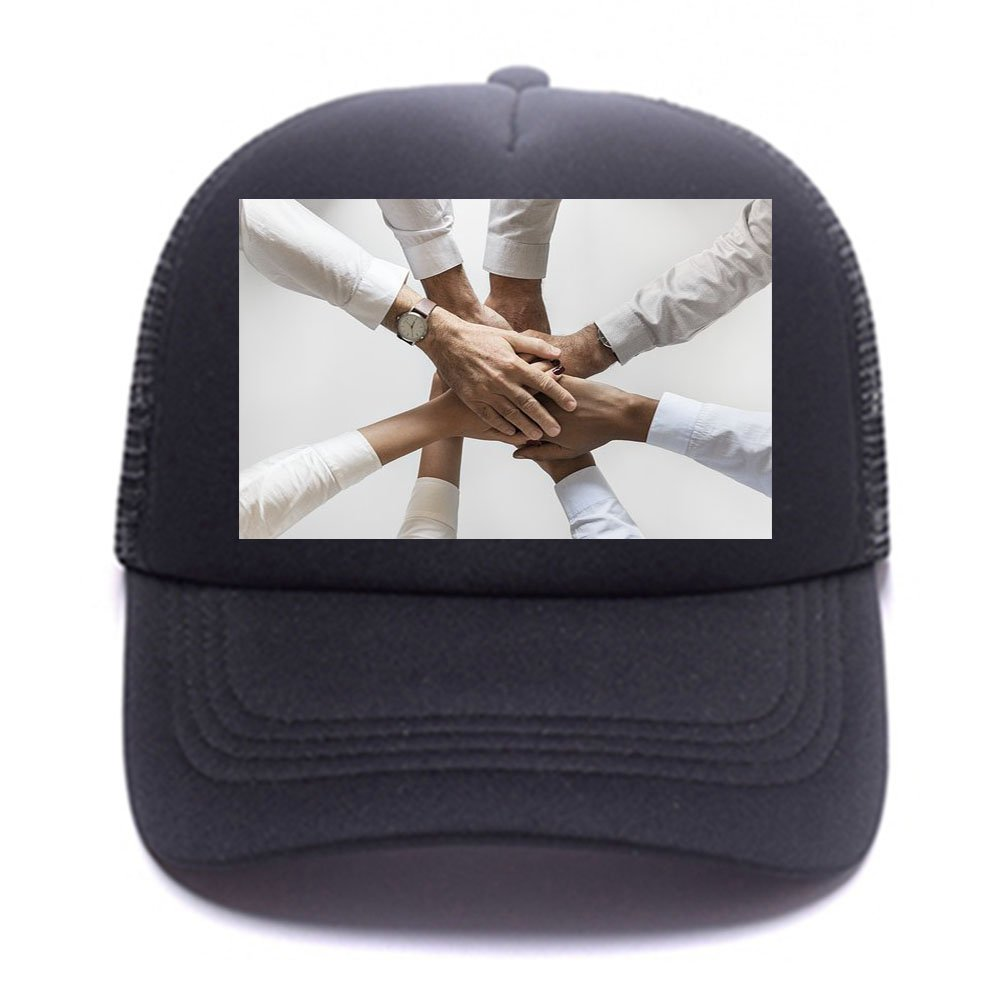 Custom Breathable Trucker Mesh Hat,Adjustable Snapback Hat for Men & Women for Leisure and Sport by NAIVEA (Image #2)