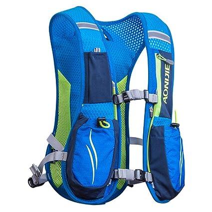 XUSHSHBA Running Bags Lightweight Backpack Sports Trail Racing Marathon Hiking Fitness Bag Hydration Vest Pack Blue