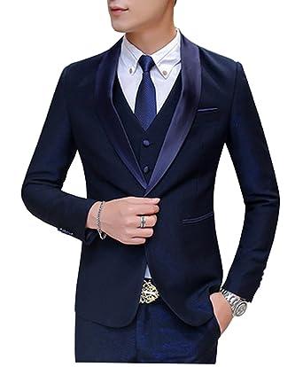 Amazon.com Fitty Lell Men\u0027s Suit Modern Navy Blue Prom