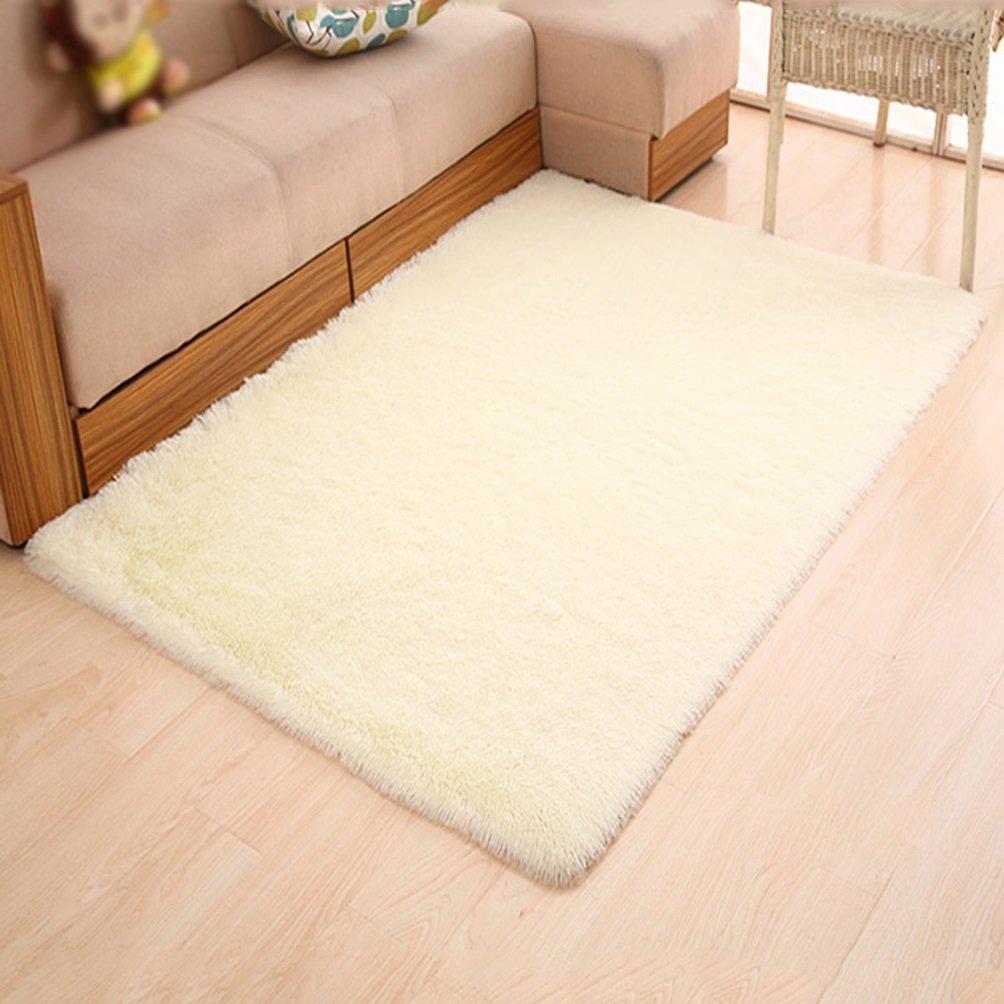 WAN SAN QIAN- Children Bedroom Carpet Living Room Carpet Sofa Europe Princess Rectangle Thicker Rug Rug ( Color : Beige , Size : 160X230CM )